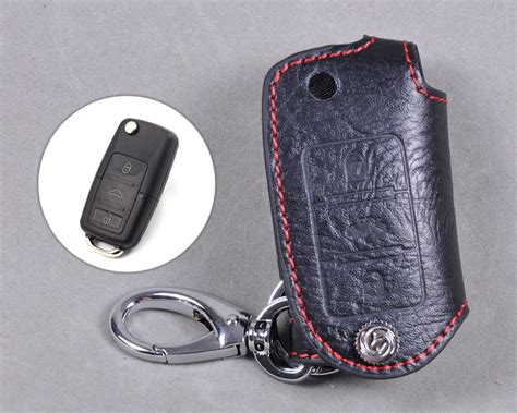 Genuine Leather Remote Key Chain Holder Case Cover For
