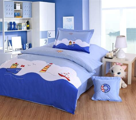 twin bed sets for boy style boys bedding set embroidery sailing boat 19998