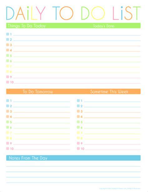 daily   list  printables