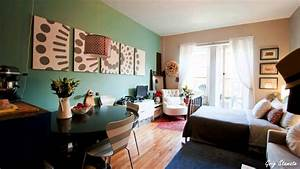 Studio Apartment Decorating On a Budget - YouTube