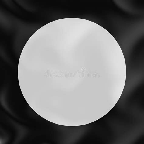 Abstract White Circle Black Background by White Circle On Black Silk 3d Abstract Background Stock