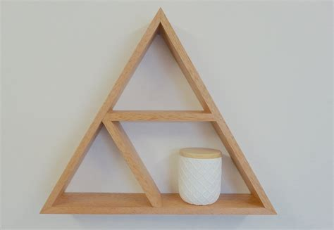 triangle wall shelf triangle wooden shelf geometric shelf by