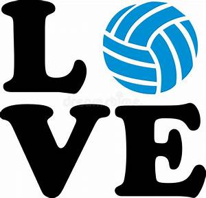 Volleyball, Love, With, Ball, Stock, Vector, Illustration, Of