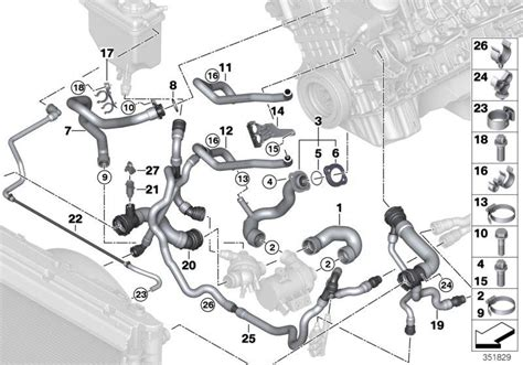 2006 Bmw 530xi Engine Diagram by 11537544638 Bmw Hose Cylinder Thermostat Cooling