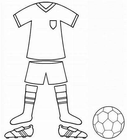Football Colouring Kit Uniform Coloring Pages Sports