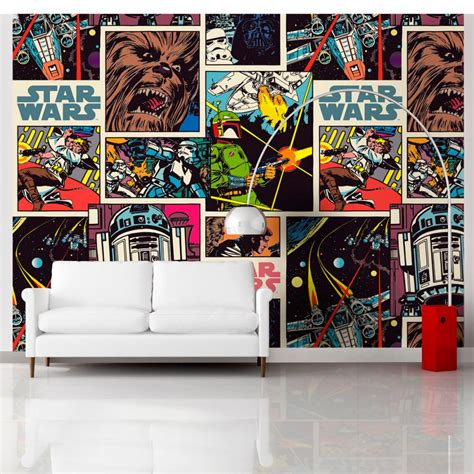 chambre wars wars book wallpaper 360 x 270cm great