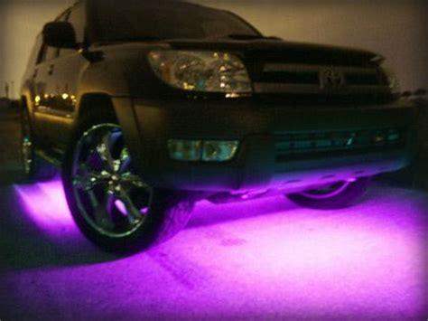 neon purple jeep purple lights on the bottom