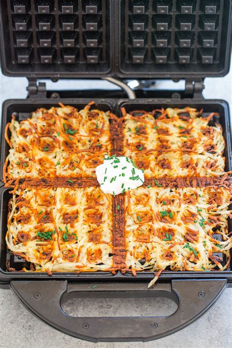 other usues for a waffle maker waffle iron hash browns averie cooks