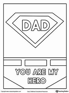 Father's Day Card. Superhero Outfit. | MyTeachingStation.com