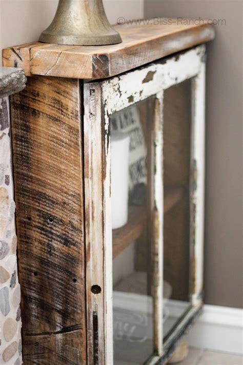 Bliss Ranch Junkers United Barn Wood Window Cabinet