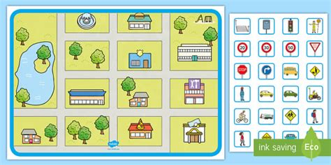 blank town map template build  town teaching resources