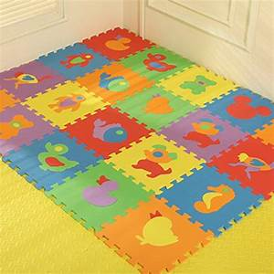 y boa lot de 10pcs tapis de sol puzzle animaux en mousse With tapis sol bébé mousse
