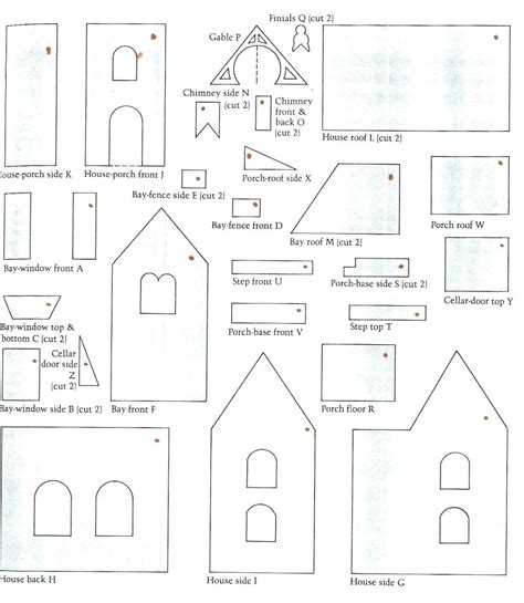 Big Gingerbread House Paper Box Template