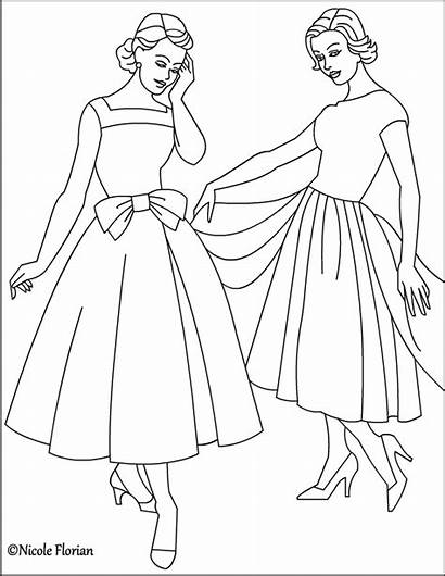 Coloring Pages 1950s Adult Fashioned Nicole Colouring