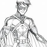 Nightwing Neocoloringpages Superhero sketch template
