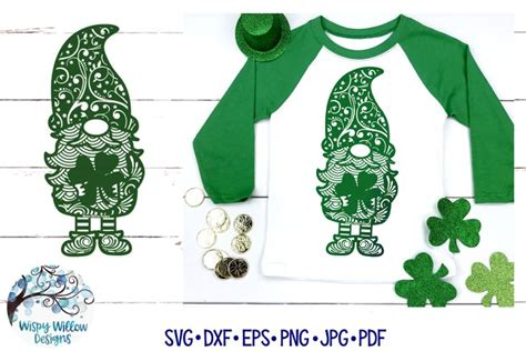 Mandala vector free vectors graphic art free download for commercial use (found 739 files) ai, eps, crd, svg format. St. Patrick's Day Gnome Zentangle SVG   Gnome Mandala SVG ...