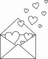 Coloring Clipart Valentine Envelope Letter Heart Pages Clip Outline Hearts Sheets Valentines Colorable Cliparts Sweetclipart Printable Note Colouring Colorimg Valintines sketch template