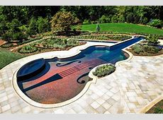 Amazing Stradivarius Violin Swimming Pool Creates Backyard