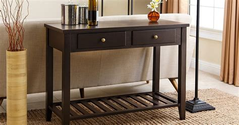 entry hall table height 4 easy tips for picking the perfect sofa table overstock com