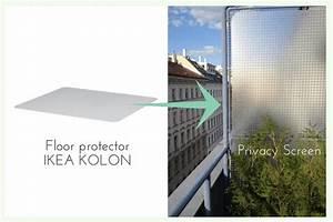 Floor protector for balcony privacy - IKEA Hackers