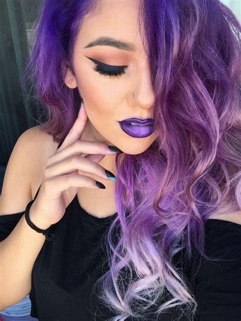 1000 Ideas About Ombre Purple Hair On Pinterest Purple