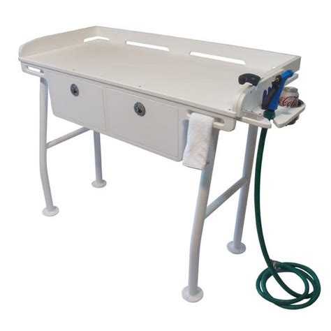 aluminum fish cleaning table dock fillet table with drawers boat outfitters