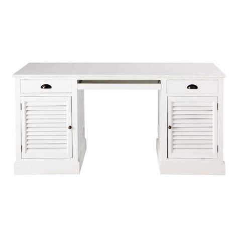 bureau 150 cm wit houten bureau b 150 cm barbade maisons du monde