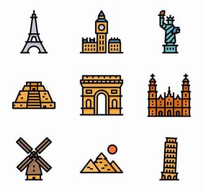 Italy Icons Icon Landmarks Packs Italian