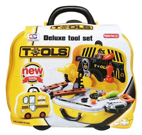 mainan anak tools set perkakas tools koper 008 916a