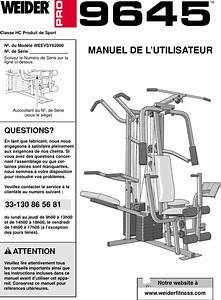 Weider Pro 9645 System Weevsy6200 Users Manual