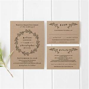 Printable wedding invitation template set 2463647 weddbook for Wedding invitations on craft paper