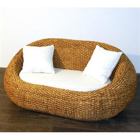 canap 233 sofa gentong jonc de mer 2 places