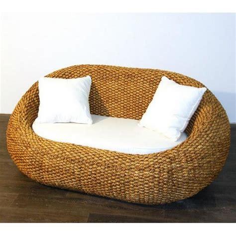 canapé jonc de mer canapé sofa gentong jonc de mer 2 places