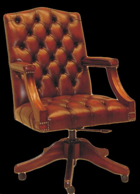 fauteuil bureau cuir marron fauteuil bureau anglais gainsboroug cuir marron patine