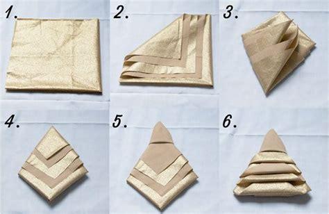 diy trois pliages de serviettes un peu kitsch pour les f 234 tes