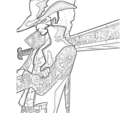 piece dracule mihawk character  coloring