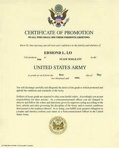 army promotion certificate template 28 images 28 With army promotion certificate template