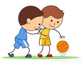Boy Playing Basketball Clip Art
