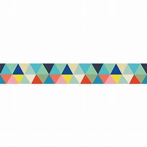 Frise enfant Papier peint Triangles multicolores Ma Chambramoi