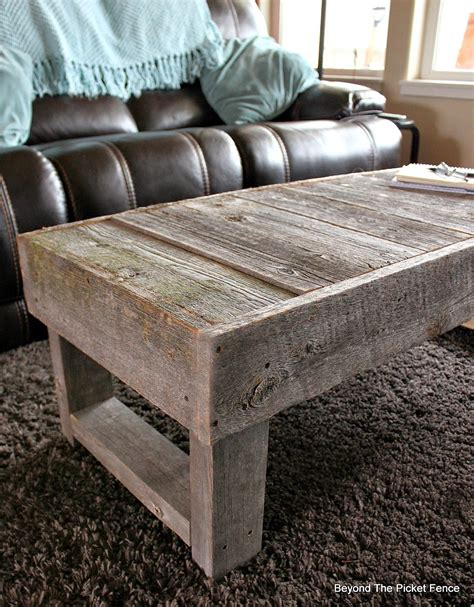 barn wood coffee table beyond the picket fence barn wood coffee table and quot the