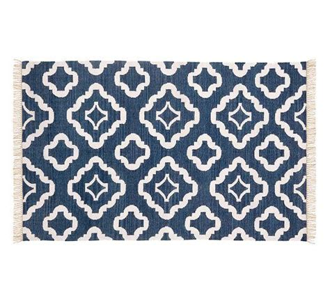 indoor outdoor rug navy blue pottery barn