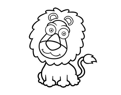 dibujo de leon simpatico  colorear dibujosnet