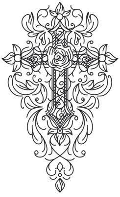 Gothic Gala - Cross_image   Cross coloring page