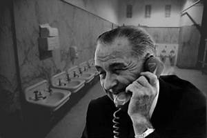 they didnt call him johnson for nothing the peeing With lyndon johnson bathroom