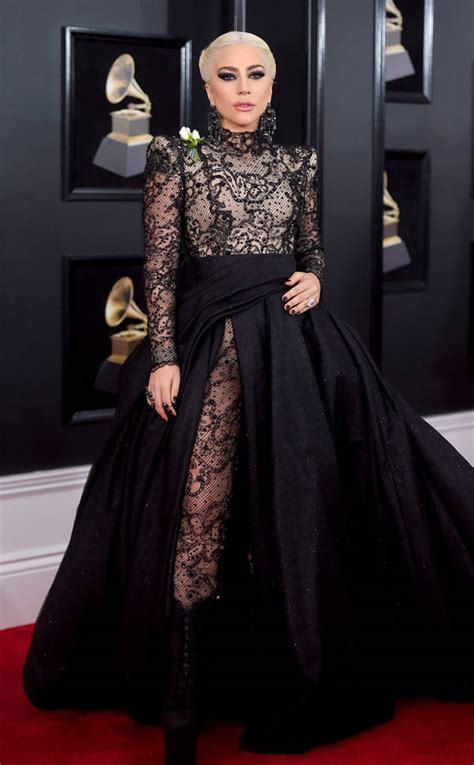 LADY GAGA at the 2018 Grammys, Red Carpet Dresses ...