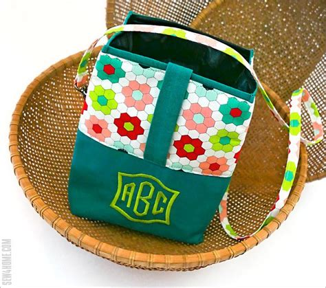 soft sack insulated lunch bag  monogram janome