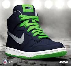 seahawks shoes  nike  nfl teams nike dunks