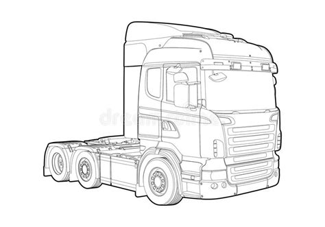 outline truck stock illustration illustration  fuel