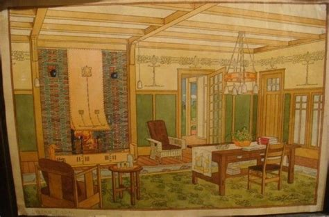 gustav stickley craftsman homes living room art