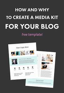how and why to create a media kit for your blog free With online media kit template